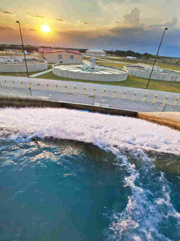 In times of drought, the Twin Oaks Aquifer Storage and Recovery Facility pumps water up from underground and sends it back to San Antonio for use. The facility uses water from the Edwards Aquifer and the Carrizo Aquifer.