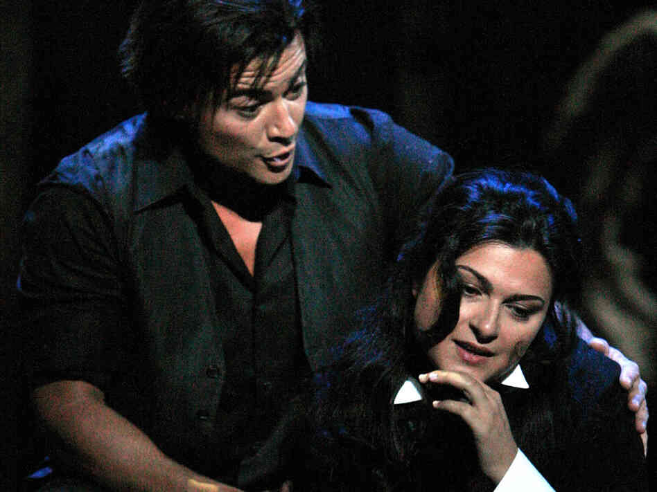 Vittorio Grigolo and Adrana Damato in 'La Boheme.'