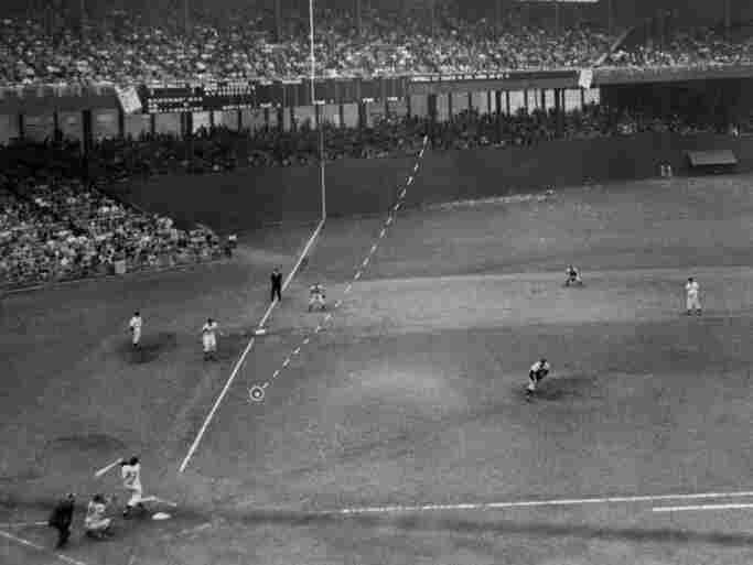 The New York Giants' Bobby Thomson hits a home run at the Polo Grounds to beat the Brooklyn Dodgers in their playoff game, Oct. 3, 1951. It remains a painful memory for Harvey Sherman.