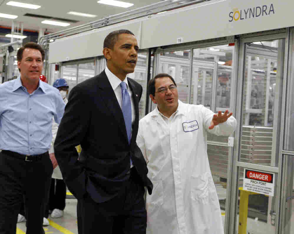 President Obama tours the ill-fated Solyndra, May 2010.