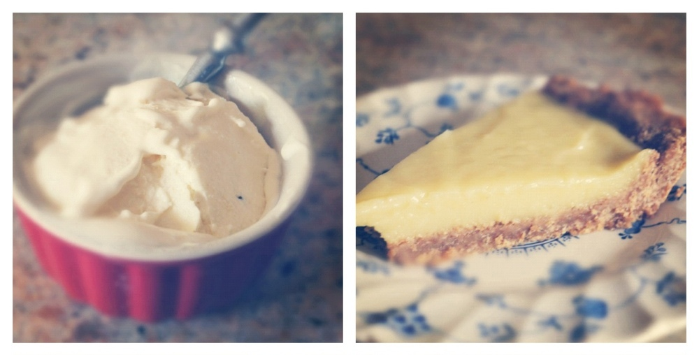 Pawpaw ice cream (left) and pie