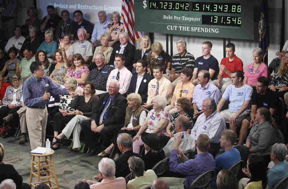 Mitt Romney at a town-hall style meeting at Saint Anselm College in Manchester, N.H., Sept. 28, 2011.