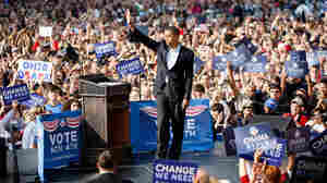 Then-Sen. Barack Obama drew enthusiastic crowds at a rally in Columbus, Ohio, just days before the 2008 election. Now, after a few rocky moments with the coalition that helped send him to the White House, and with a re-election battle looming, Obama is trying to re-energize his supporters.
