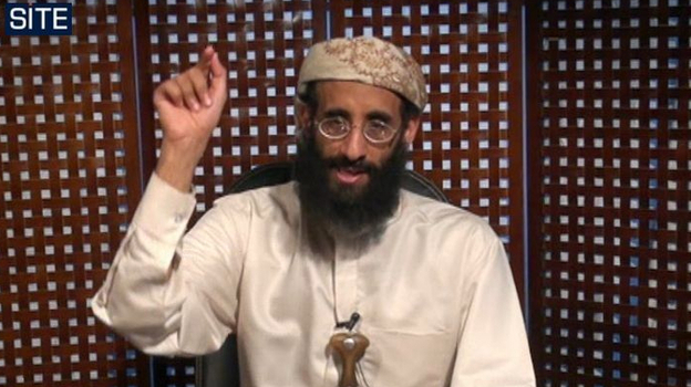 In this image taken from video and released by SITE Intelligence Group, Anwar al-Awlaki speaks in a video message posted on radical websites in November, 2010. (AP)