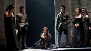 Anna Netrebko in rehearsal for Donizetti's 'Anna Bolena' at the Metropolitan Opera, September 2011.