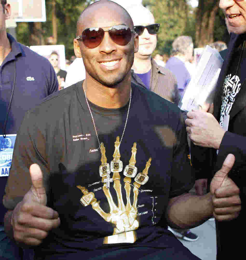 Basketball star Kobe Bryant in Milan, Italy, on Wednesday, (Sept. 28, 2011).
