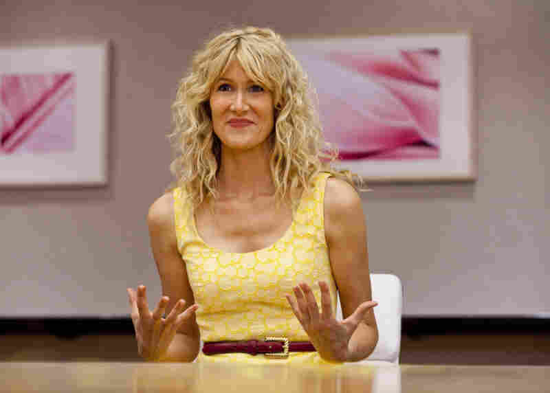 Laura Dern is Amy Jellicoe, a health and beauty executive who returns from a post-meltdown retreat to pick up the pieces of her broken life in the new HBO series Enlightened.