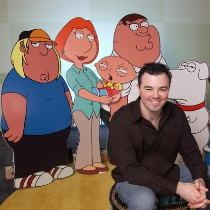 Seth MacFarlane is the creator of the animated sitcoms Family Guy, American Dad! and The Cleveland Show.