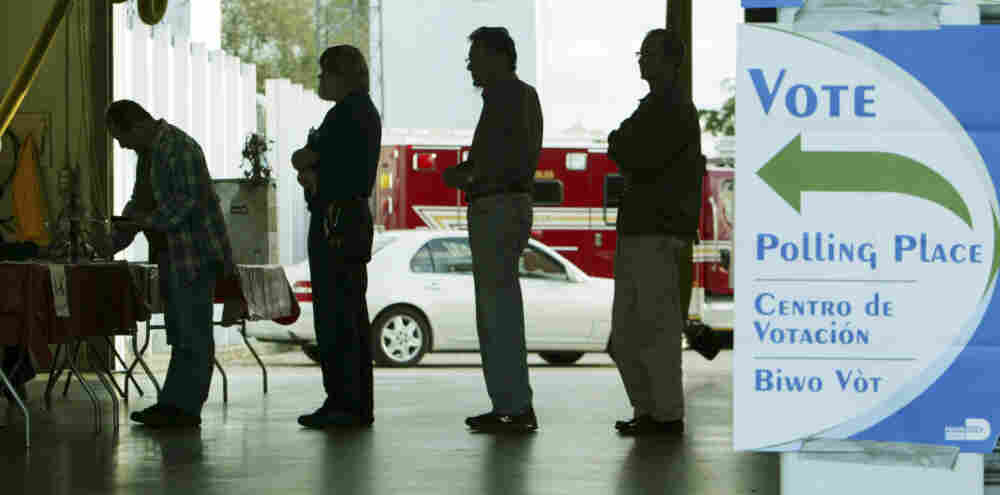 Voters in Coral Gables, Fla., prepare to vote in the state's presidential primary, Jan. 29, 2008.
