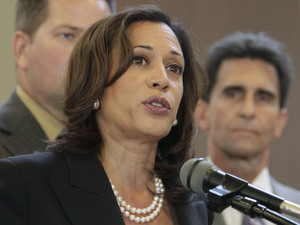 California Attorney General Kamala Harris, seen in June, said she will not agree to a settlement over foreclosure abuses being negotiated with major U.S. banks by other state and federal attorneys general.