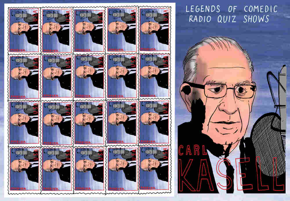 Carl Kasell Stamp