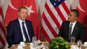 President Obama meets with Turkish Prime Minister Recep Tayyip Erdogan on Tuesday in New York City. Turkey has agreed to a U.S. radar installation as part of a NATO missile defense system.