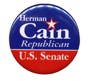 Cain finished second in Georgia's 2004 GOP Senate primary.