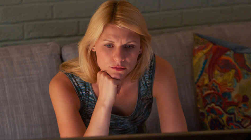 Claire Danes as Carrie Mathison Showtime's Homeland.