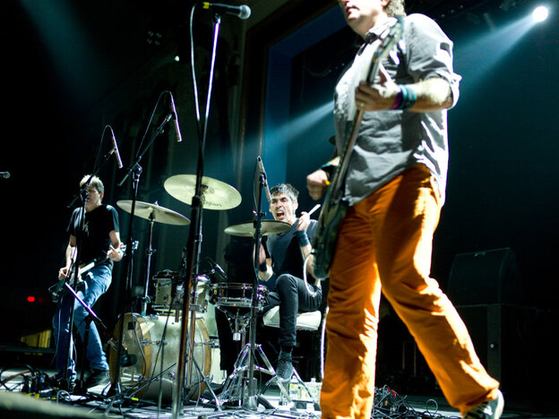 Shellac performing at the 2011 ATP festival.
