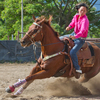 High schooler Kiana Uechi-won barrel races in the 19th Annual All-Girls Rodeo at the Kualoa Ranch on Oahu on Saturday.