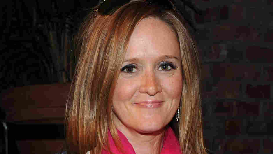 Comedian Samantha Bee, seen here in April 2011, is writing about parenting at her new blog.