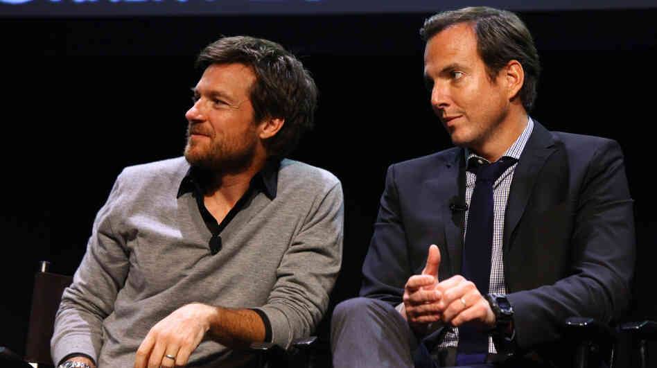 Jason Bateman (L) and Will Arnett attend The 2011 New Yorker Festival's Arrested Development Panel this weekend.
