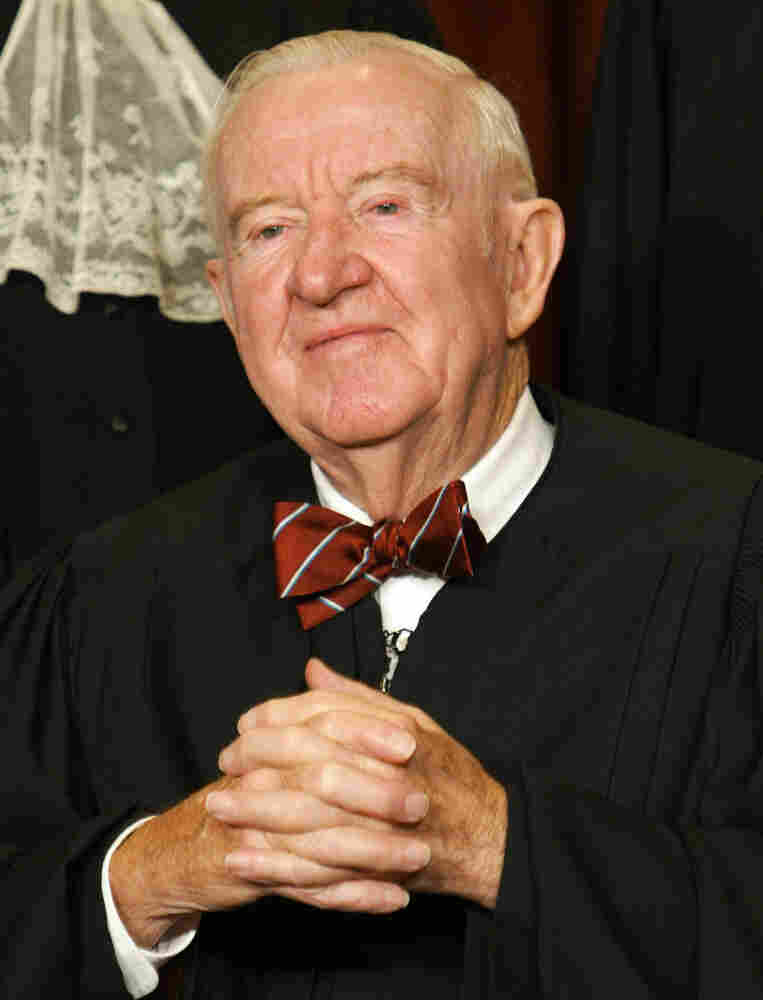 John Paul Stevens, shown in 2003, served on the Supreme Court from 1975 to 2010.