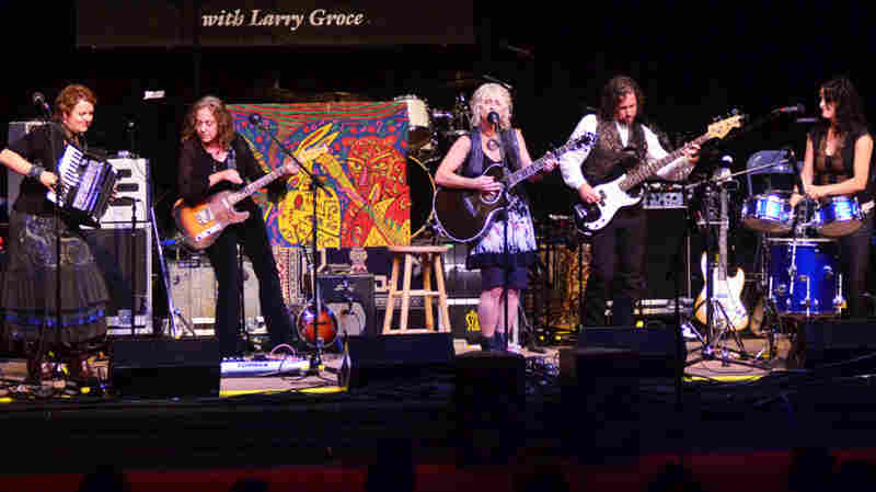 Bay Area country rock collective Blame Sally perform on Mountain Stage.