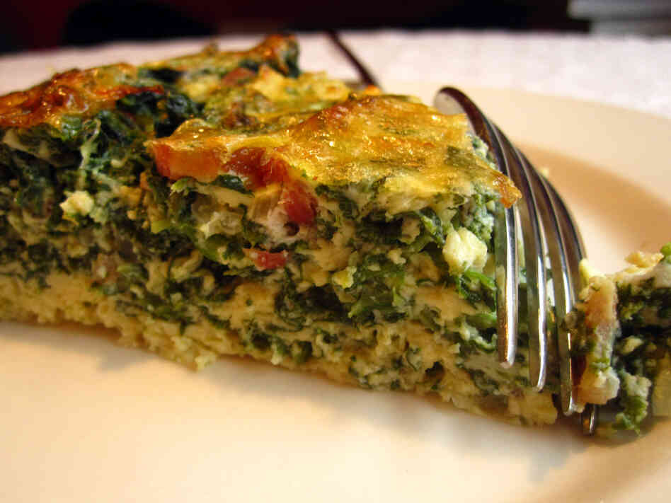 Recipe: Crustless Spinach Quiche : NPR