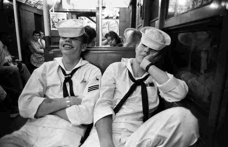 Sailors on the Subway from Coney Island, 1957