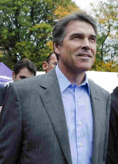 Republican presidential candidate and Texas Gov. Rick Perry in Manchester, N.H., on Saturday (Oct. 1, 2011).