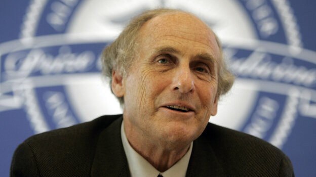 Dr. Ralph Steinman of Rockefeller University speaks during a news conference in April 2009. He died on Friday. Today, he was honored with a Nobel Prize.