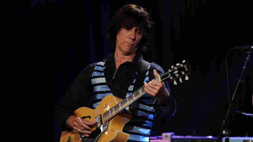 Jeff Beck performs at Les Paul's 95th-birthday party at Iridium Jazz Club on June 9, 2010, in New York City.