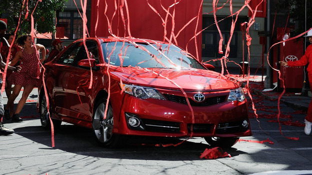 The new redesigned 2012 Toyota Camry is unveiled during a news event on the Paramount Studios lot in Hollywood, Calif. (Getty Images)
