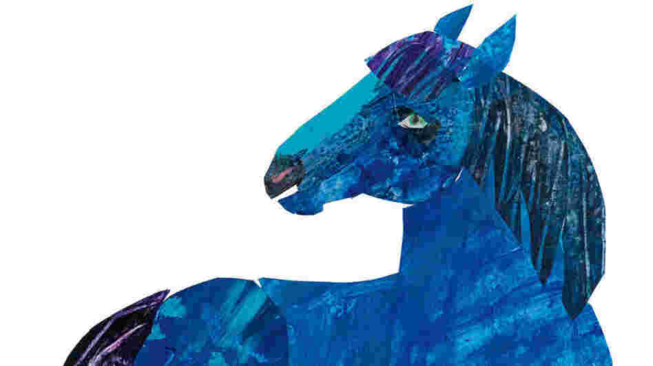 Cover art for The Artist Who Painted A Blue Horse.