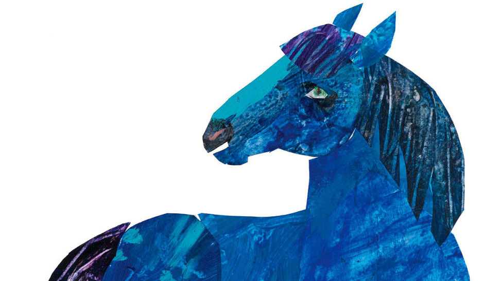 Children S Book Blue Cover : Eric carle the blue horse that inspired a children s