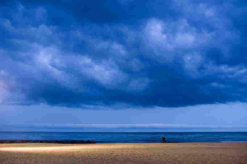 A storm a-brewin' on Bradley Beach.