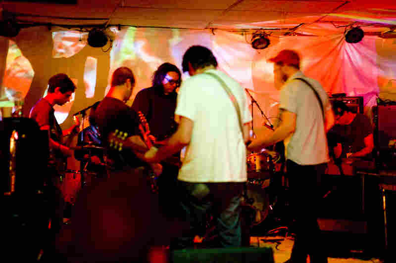 At Asbury Lanes, Oneida presented The Ocropolis III, an eight-hour (!) improvisation featuring guest musicians from Portishead, Boredoms, Guardian Alien and Yo La Tango.