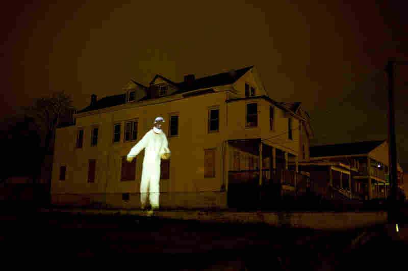 An astronaut projected onto the side of a house all weekend? Sure, why not? It's ATP.