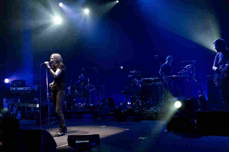 It was too quick a moment to capture, but Portishead's Beth Gibbons actually stage dove at the encore on Saturday night.