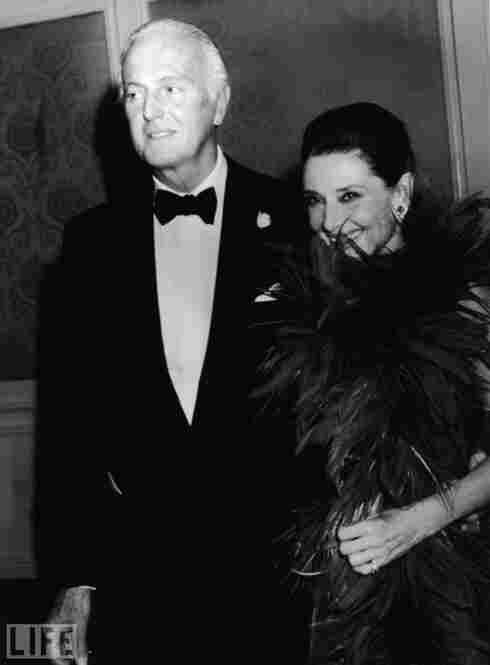 Givenchy and Hepburn arrive at a ceremony in Beverly Hills, in which Givenchy was honored with a lifetime achievement award.