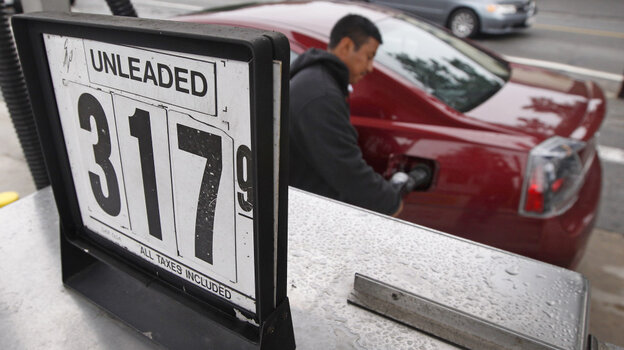 The price of gasoline stood at