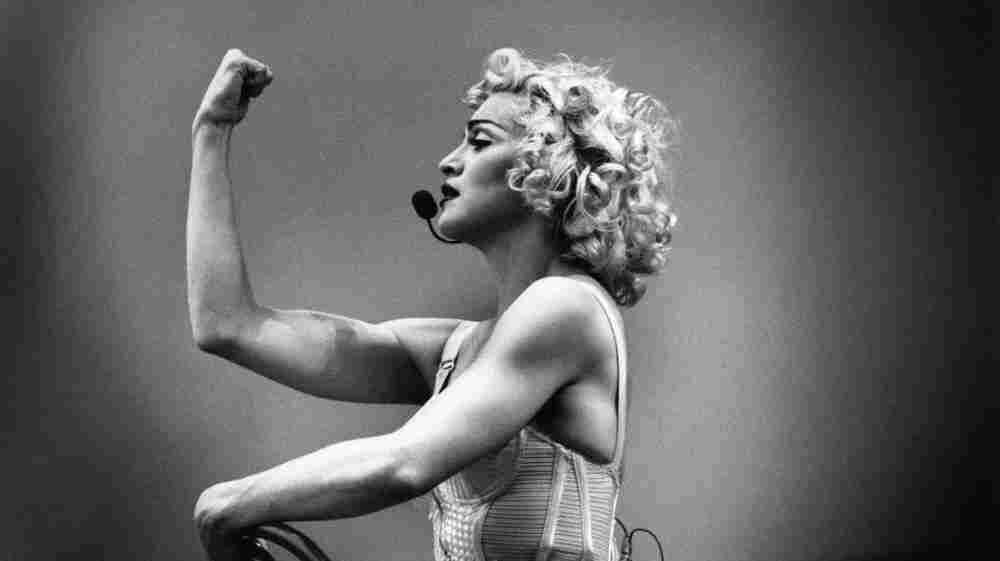 She's tough enough. Here Madonna is on stage during the Blonde Ambition tour in 1990.