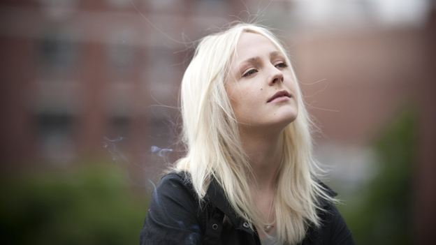 "English singer-songwriter Laura Marling has been serenading tiny, randomly selected audiences (just two people at a time) for exclusive ""Experiments in Awkwardness."" (Courtesy of Ribbon Music)"