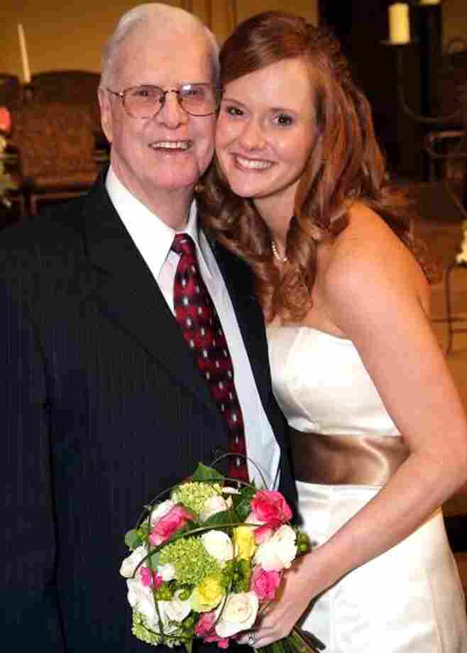 William Thomas Beach, of Mustang, Okla.. is shown with granddaughter Katerine Crouse in an undated family photo. Beach died Sept. 1, and health officials linked his illness to the nationwide listeria outbreak.