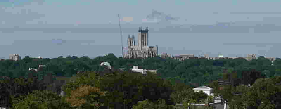 Repairs are under way at the National Cathedral, which sustained millions of dollars' worth of damage in an August earthquake.