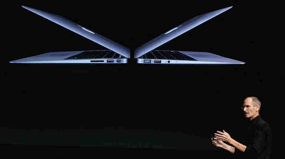 Steve Jobs introduces new MacBook Air models at Apple headquarters on Oct. 20, 2010. Some say one of his greatest legacies is his impact on design.