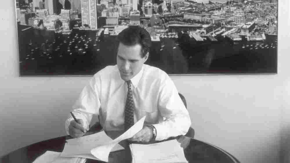 Mitt Romney, shown in 1993, is the former CEO of Bain & Co. In the 198