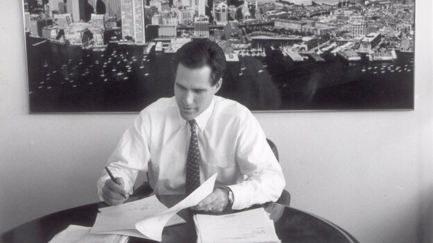 Mitt Romney, shown in 1993, is the former CEO of Bain & Co. In the 1980s, he started an investment fund called Bain Capital. His supporters say that's where he learned to solve big problems, create jobs and expand companies. His opponents say he made money by shutting down factories, occasionally driving companies into bankruptcy.