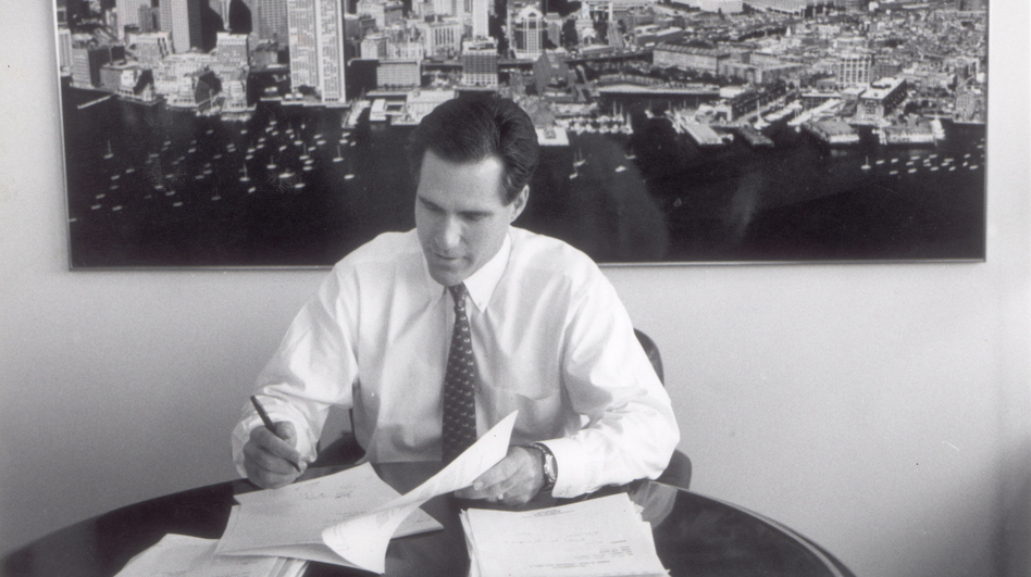 <p>Mitt Romney, shown in 1993, is the former CEO of Bain & Co. In the 1980s, he started an investment fund called Bain Capital. His supporters say that's where he learned to solve big problems, create jobs and expand companies. His opponents say he made money by shutting down factories, occasionally driving companies into bankruptcy. </p> (David L. Ryan/Boston Globe via Getty Images)