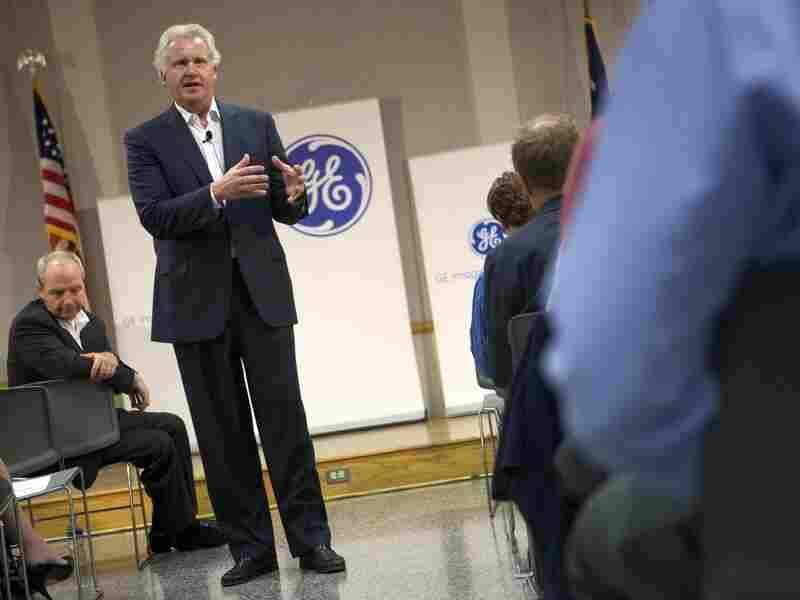 Immelt answers a question from an employee during a town hall meeting at the GE Energy Greenville Operations campus in Greenville, S.C., on July 13. Immelt is chairman of President Obama's Council on Jobs and Competitiveness, an advisory group.