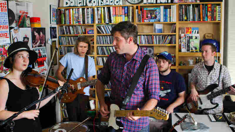 Chris Bathgate performs a Tiny Desk Concert at the NPR Music offices on June 16, 2011.
