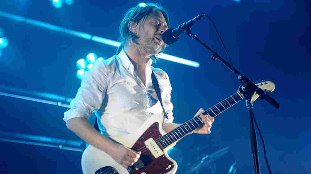 Thom Yorke at Radiohead's Sept. 28 concert at Roseland Ballroom in New York.
