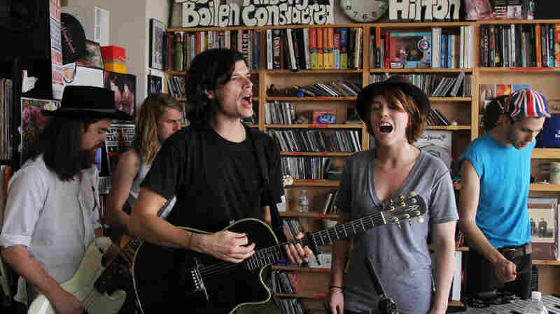 Grouplove performs a Tiny Desk Concert at the NPR Music offices.